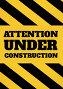 Under construction text against yellow background against yellow and black background, иллюстрация № 26953690 (c) Wavebreak Media / Фотобанк Лори