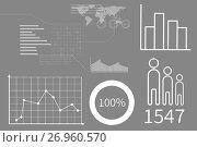 Купить «Business interface with graphics», иллюстрация № 26960570 (c) Wavebreak Media / Фотобанк Лори