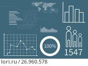 Купить «Business interface with graphics», иллюстрация № 26960578 (c) Wavebreak Media / Фотобанк Лори