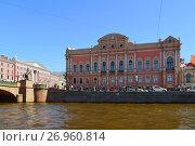 Купить «St. Petersburg, Russia - June 04.2017. View of Beloselsky-Belozersky Palace», фото № 26960814, снято 4 июня 2017 г. (c) Володина Ольга / Фотобанк Лори