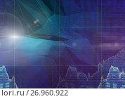 Купить «Abstract transition with polygons waves», иллюстрация № 26960922 (c) Wavebreak Media / Фотобанк Лори