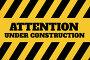 Under construction text against yellow and black background, иллюстрация № 26961234 (c) Wavebreak Media / Фотобанк Лори