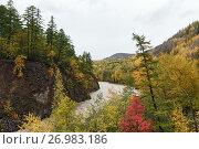 Осенний пейзаж Камчатки. Стоковое фото, фотограф А. А. Пирагис / Фотобанк Лори