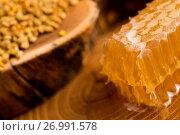 Купить «Honeycomb, pollen and propolis», фото № 26991578, снято 25 сентября 2016 г. (c) easy Fotostock / Фотобанк Лори