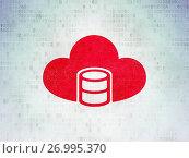 Купить «Database concept: Database With Cloud on Digital Data Paper background», фото № 26995370, снято 21 января 2017 г. (c) easy Fotostock / Фотобанк Лори