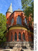 St Michael's Church is church situated in central Turku. It's named after Archangel Michael and was finished in 1905. It is distinguished example of neogothic style in architecture (2017 год). Стоковое фото, фотограф Валерия Попова / Фотобанк Лори