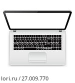 Laptop with blank screen isolated on white background. Стоковая иллюстрация, иллюстратор Дмитрий Варава / Фотобанк Лори