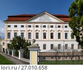 Купить «Здание молодежного центра (Jugendhaus) при монастыре Гёттвайг (Stift Göttweig) близ города Кремз. Нижняя Австрия.», фото № 27010658, снято 3 апреля 2017 г. (c) Bala-Kate / Фотобанк Лори