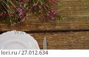 Купить «Various cutlery on wooden table 4k», видеоролик № 27012634, снято 23 июля 2019 г. (c) Wavebreak Media / Фотобанк Лори
