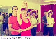 Купить «couples dancing Latino dance», фото № 27014622, снято 27 мая 2019 г. (c) Яков Филимонов / Фотобанк Лори