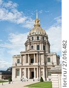 Купить «Собор Дома Инвалидов. Солнечный день ранней осенью. Париж. Франция», фото № 27016482, снято 16 сентября 2017 г. (c) E. O. / Фотобанк Лори