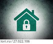 Купить «Business concept: Home on Digital Data Paper background», фото № 27022106, снято 2 декабря 2016 г. (c) easy Fotostock / Фотобанк Лори