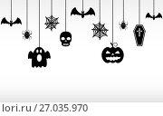 Halloween hanging ornaments isolated. Стоковая иллюстрация, иллюстратор Дмитрий Варава / Фотобанк Лори