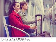 Купить «Couple with baggage in car», фото № 27039486, снято 19 октября 2018 г. (c) Яков Филимонов / Фотобанк Лори