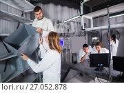 Купить «Five players are looking for a clue to the puzzle», фото № 27052878, снято 6 июля 2017 г. (c) Яков Филимонов / Фотобанк Лори