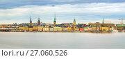 Panorama of the Old Town Stockholm. Стоковое фото, фотограф Sergey Borisov / Фотобанк Лори