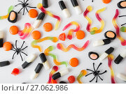 Купить «gummy worms and jelly candies for halloween party», фото № 27062986, снято 15 сентября 2017 г. (c) Syda Productions / Фотобанк Лори