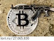 Купить «Новая, стабильная, анонимная криптовалюта Биткоин (Bitcoin)», фото № 27065830, снято 19 мая 2017 г. (c) Роман Оплев / Фотобанк Лори