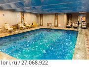 Купить «Swimming pool in the sauna», фото № 27068922, снято 30 сентября 2016 г. (c) Евгений Ткачёв / Фотобанк Лори