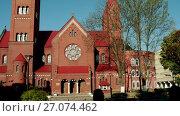 Купить «Church of Saints Simon and Helena, Minsk, Belarus», видеоролик № 27074462, снято 7 июля 2017 г. (c) BestPhotoStudio / Фотобанк Лори