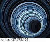 Купить «Abstract dark digital background, 3 d tunnel», иллюстрация № 27075166 (c) EugeneSergeev / Фотобанк Лори
