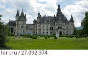 Купить «Montrejeau castle of Valmirande in France - old european stone building», видеоролик № 27092374, снято 15 мая 2017 г. (c) Яков Филимонов / Фотобанк Лори