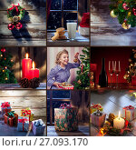Купить «Merry christmas and new year theme collage composed of different images», фото № 27093170, снято 21 июля 2018 г. (c) Дмитрий Эрслер / Фотобанк Лори