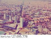 Купить «Aerial view of Barcelona, Spain», фото № 27095778, снято 1 августа 2014 г. (c) Яков Филимонов / Фотобанк Лори