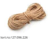 Купить «Skein of jute twine», фото № 27096226, снято 21 мая 2017 г. (c) Антон Стариков / Фотобанк Лори