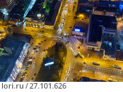 Купить «Panorama of the night Yekaterinburg. Russia», фото № 27101626, снято 23 мая 2019 г. (c) Евгений Ткачёв / Фотобанк Лори