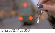 Купить «House keys as real estate symbol», видеоролик № 27103350, снято 17 октября 2017 г. (c) Данил Руденко / Фотобанк Лори