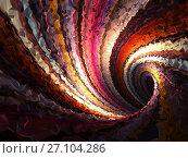 Купить «Empty twisted triangulated tunnel, 3d», иллюстрация № 27104286 (c) EugeneSergeev / Фотобанк Лори