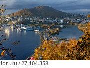 Осенний город Петропавловск-Камчатский, Авачинская бухта, фото № 27104358, снято 30 сентября 2017 г. (c) А. А. Пирагис / Фотобанк Лори