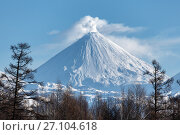 Вулкан Ключевская сопка на Камчатке, фото № 27104618, снято 7 января 2016 г. (c) А. А. Пирагис / Фотобанк Лори