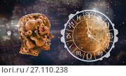 Купить «Cog head and horoscope planet astrology», фото № 27110238, снято 23 мая 2019 г. (c) Wavebreak Media / Фотобанк Лори