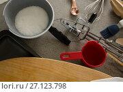 Купить «Powdered sugar with various cookie utensils», фото № 27123798, снято 5 мая 2017 г. (c) Wavebreak Media / Фотобанк Лори