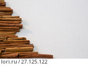 Купить «Christmas tree made from cinnamon sticks », фото № 27125122, снято 8 июня 2017 г. (c) Wavebreak Media / Фотобанк Лори