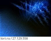 Купить «Abstract blue background techno graphics», иллюстрация № 27129558 (c) ElenArt / Фотобанк Лори
