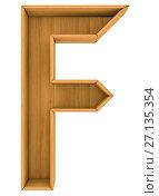 Купить «Wooden cabinet-letter. 3d illustration», иллюстрация № 27135354 (c) Кирилл Черезов / Фотобанк Лори