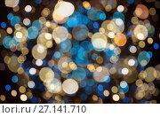 Купить «christmas background with bokeh lights», фото № 27141710, снято 7 сентября 2017 г. (c) Syda Productions / Фотобанк Лори