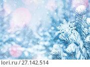 Купить «Новогодний фон», фото № 27142514, снято 21 октября 2015 г. (c) Икан Леонид / Фотобанк Лори