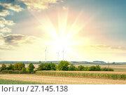 Купить «Sunset summer landscape», фото № 27145138, снято 12 августа 2015 г. (c) Кирилл Черезов / Фотобанк Лори