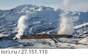 Купить «Мутновская геотермальная электростанция на Камчатке», видеоролик № 27151110, снято 27 октября 2017 г. (c) А. А. Пирагис / Фотобанк Лори