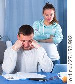 Купить «Couple struggling to pay bills», фото № 27152902, снято 18 марта 2017 г. (c) Яков Филимонов / Фотобанк Лори