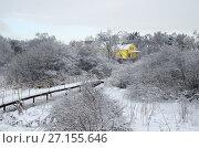 Купить «Зимний сельский пейзаж», эксклюзивное фото № 27155646, снято 15 ноября 2016 г. (c) Елена Коромыслова / Фотобанк Лори