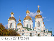 Купить «Dome of St. Nicholas Cathedral, St. Petersburg, Russia», фото № 27172698, снято 21 октября 2017 г. (c) Юлия Бабкина / Фотобанк Лори