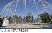 Купить «Музыкальный фонтан в Анапе, Краснодарский край», видеоролик № 27174526, снято 5 августа 2017 г. (c) Олег Хархан / Фотобанк Лори