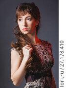 Portrait of beautiful lady. Стоковое фото, фотограф Podvysotskiy Roman / Фотобанк Лори