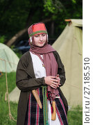 "Portrait of a girl in a medieval costume / The picture was taken in Russia, in Orenburg, at the festival of historical reconstruction ""Fighting glory. Phoenix - the wheel of life"". 06/10/2017. Редакционное фото, фотограф Вадим Орлов / Фотобанк Лори"