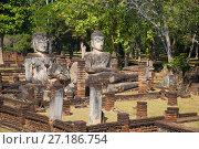 Купить «На руинах вихары буддистского храма Wat Phra Kaeo. Кампаенг Пхет, Таиланд», фото № 27186754, снято 30 декабря 2016 г. (c) Виктор Карасев / Фотобанк Лори